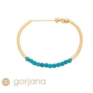 Gorjana Power Gemstone Cuff | Gold and Turquoise